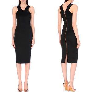 Ted Baker Vadena Crossback Midi Dress in Black